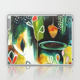 """Deep Growth"" Original Painting by Flora Bowley Laptop & iPad Skin"