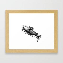 Tuna - Go vegan Framed Art Print