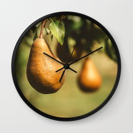Golden Pears Wall Clock