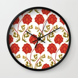 Orchid Pattern Wall Clock