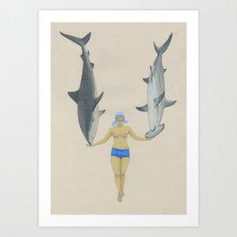 The Shark Charmer Art Print
