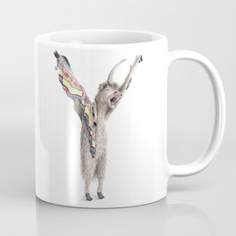 Y is for Yawning Yaks! Animal letters from The Laugh-A-Bit Alphabet Watercolor series - BirdsFlyOver Coffee Mug