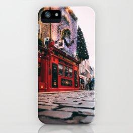Temple Bar Dublin Ireland Christmas iPhone Case