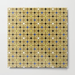 Persian Blocks Desert Metal Print