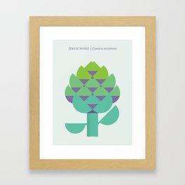 Vegetable: Artichoke Framed Art Print