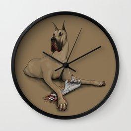 A Dog with a Bone Wall Clock