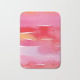 Red Watercolor Vibes Bath Mat