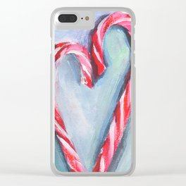 Candy hearts. Sweet couple. Valentine's day card Clear iPhone Case