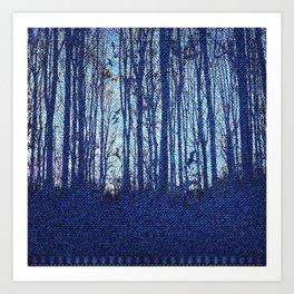 Denim Designs Winter Woods Art Print