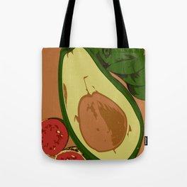 Avocado and guavas Tote Bag