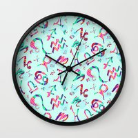 zodiac Wall Clocks featuring Zodiac  by Art Tree Designs