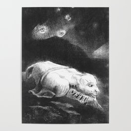 """Odilon Redon """"When Life was Awakening in the Depths of Obscure Matter"""" Poster"""