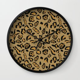 Brown jaguar pattern Wall Clock