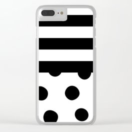 Big Fat Black White Spots Clear iPhone Case