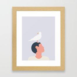 MÅGEFUGLE Framed Art Print