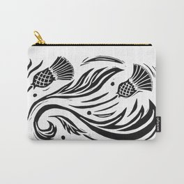 Thistle - Black and White Carry-All Pouch