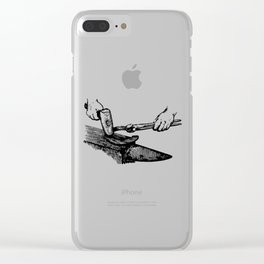 Blacksmith Ink Art Clear iPhone Case