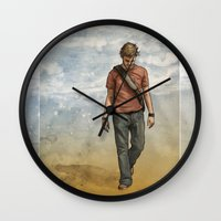 charlie Wall Clocks featuring Charlie by Jackie Sullivan