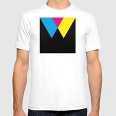 W like W SMALL White Mens Fitted Tee