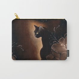 Black Kitty Halloween Carry-All Pouch