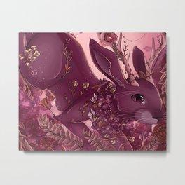 Floral Jackalope Metal Print