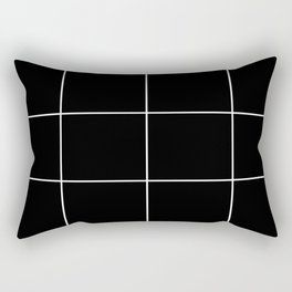Blak White Grid Rectangular Pillow