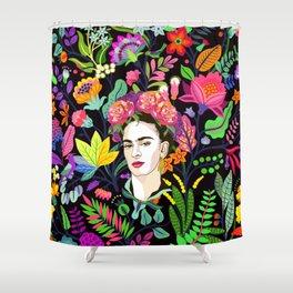 Frida in Bloom Shower Curtain