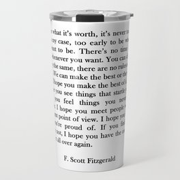 F.scott - for what Travel Mug