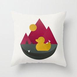 Duck Dance Throw Pillow