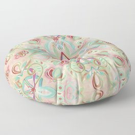 Soft Marsala and Sage Pattern Floor Pillow