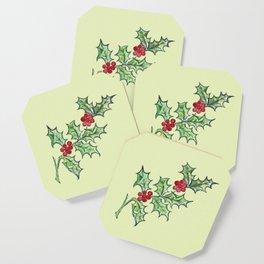 Holly Sprig (lite green) Coaster