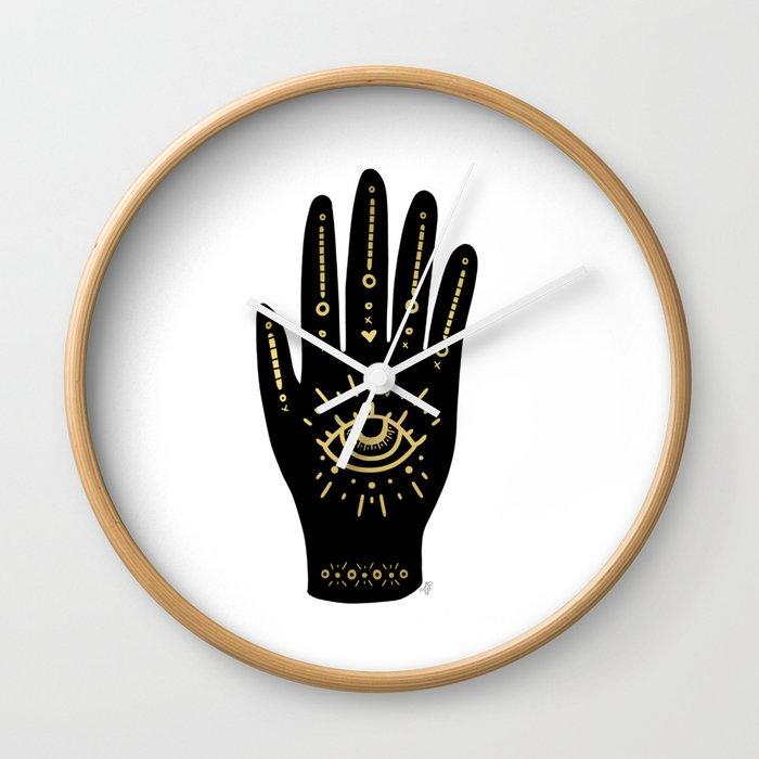 Evil Eye Hand Wall Clock