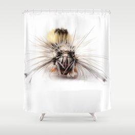 Catepillar on my table Shower Curtain