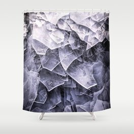 Cracked Ice Tiles In Lake Shore #decor #buyart #society6 Shower Curtain