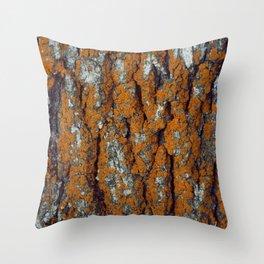 Orange Moss Throw Pillow