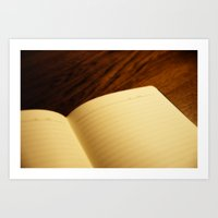 notebook Art Prints featuring Blank notebook by Nazar N.
