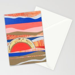 Orange and Blue Hills Stationery Cards