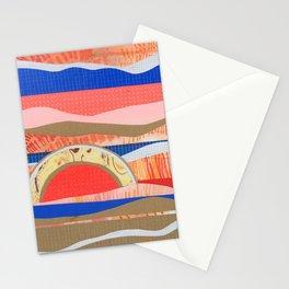 Orange and Blue Hills Stationery Cards