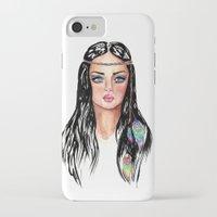 hippie iPhone & iPod Cases featuring hippie by knutsie