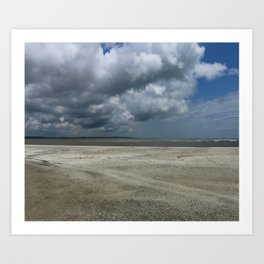 Dramatic Sky Over Golden Isles Beach Art Print