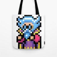 final fantasy Tote Bags featuring Final Fantasy II - Tellah by Nerd Stuff