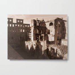 Ruins in Heidelberg Metal Print