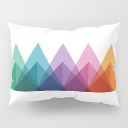 Fig. 009 Colorful Triangle Mountain Chain Pillow Sham