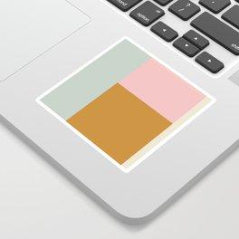 Abstract Geometric Color Block Design Sticker