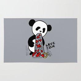 LOVESICK PANDA - grey Rug