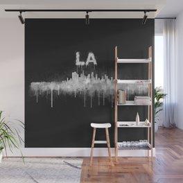 Los Angeles City Skyline HQ v5 WB Wall Mural