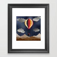 Balloon Aeronautics Rain Framed Art Print