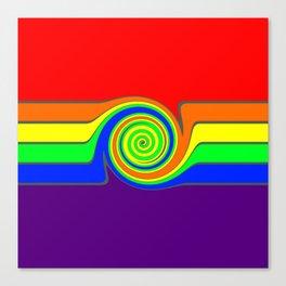 Rainbow With A Headache Canvas Print