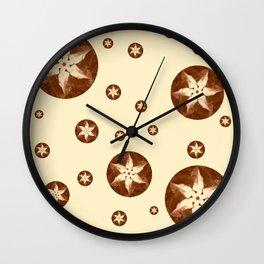 Coffee Flowers Wall Clock