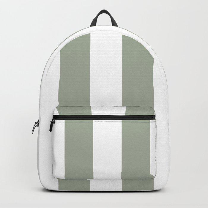Desert Sage Grey Green Circus Tent Stripe Backpack